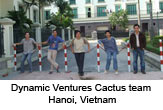 Dynamic Ventures Cactus team in Hanoi, Vietnam